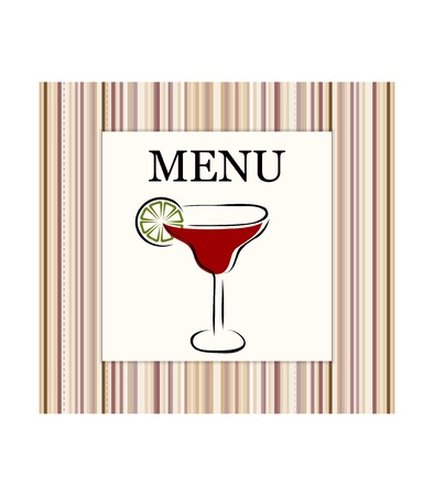 Menu card Stock Vector - 12073055