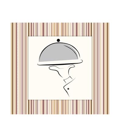 food logo: Menu card