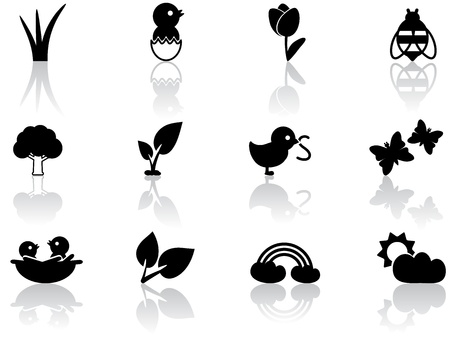 Spring icons Stock Vector - 12485703