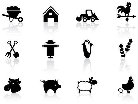 Farming icons Stock Vector - 12485708