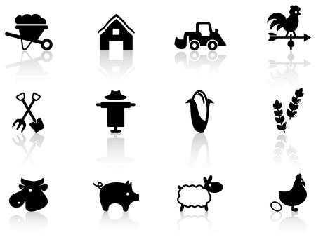 carretilla: Los iconos de la agricultura