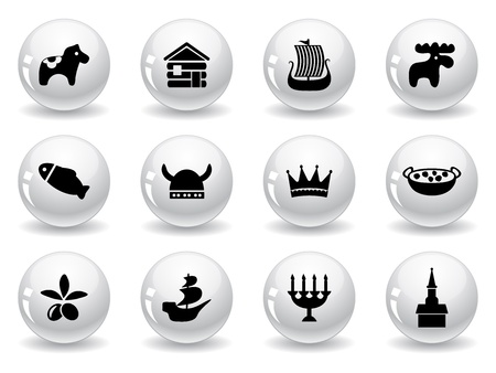 Web buttons, swedish icons