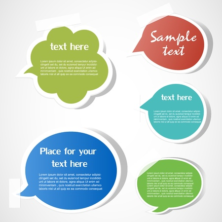 Speech bubbles Stock Vector - 12485727