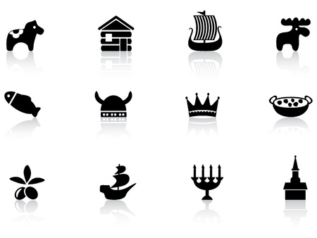 Swedish icons Stock Vector - 12485711