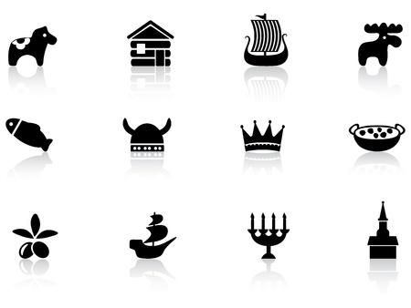 Swedish icons Stock Vector - 12485711