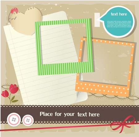 Scrapbook elements Ilustrace