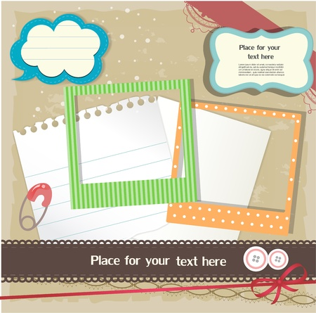 full frame: Scrapbook elements Illustration