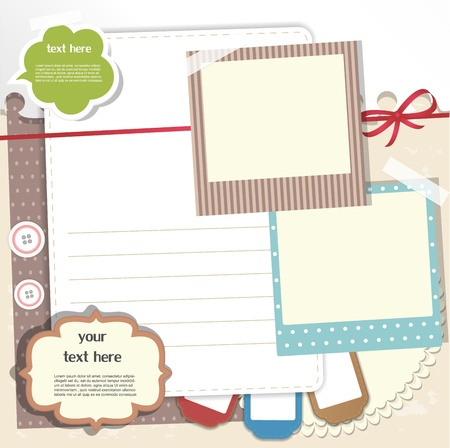 decorate element: Scrapbook elements Illustration
