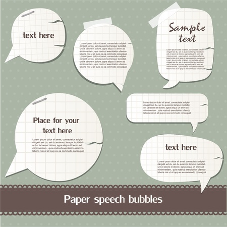 Paper speech bubbles Stock Vector - 12792538