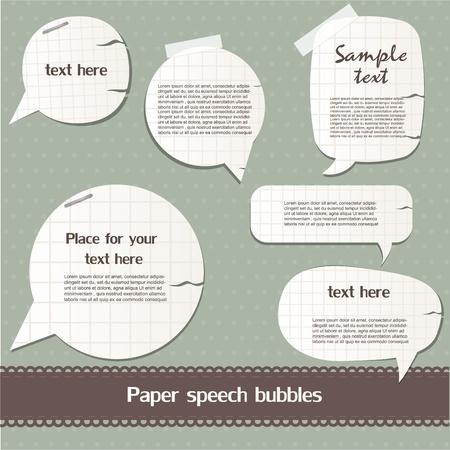 Paper speech bubbles Stock Vector - 12792538