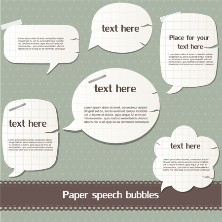 Paper speech bubbles Stock Vector - 12792537