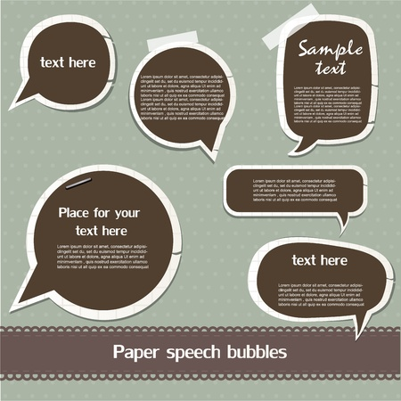 Paper speech bubbles