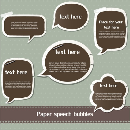 Paper speech bubbles Stock Vector - 12793176