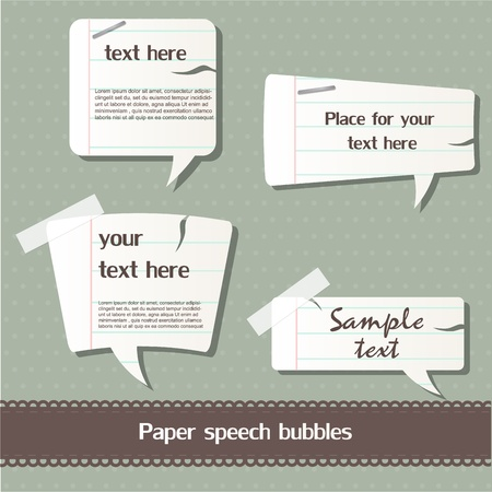 Paper speech bubbles Stock Vector - 12793352