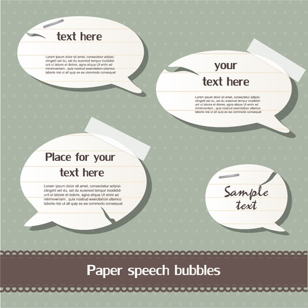 Paper speech bubbles Stock Vector - 12793348