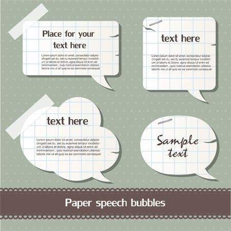 Paper speech bubbles Stock Vector - 12793351