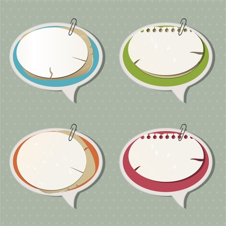 Paper speech bubbles Stock Vector - 12823156