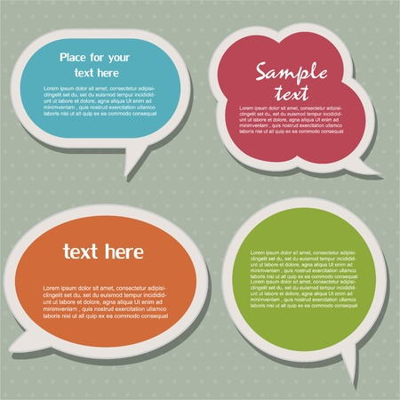 Speech bubbles Stock Vector - 12824239