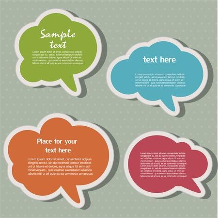 bubble speech: Speech bubbles Illustration