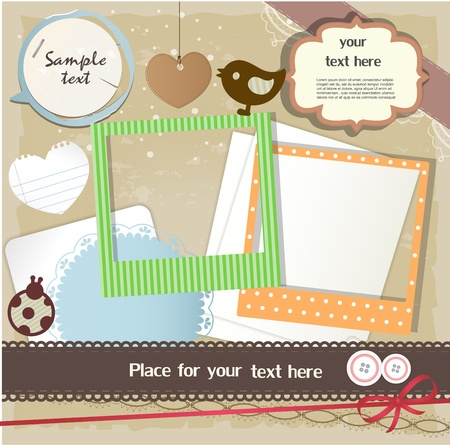 albums: Scrapbook elements Illustration