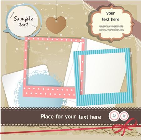 papel scrapbook: Los elementos del libro de recuerdos