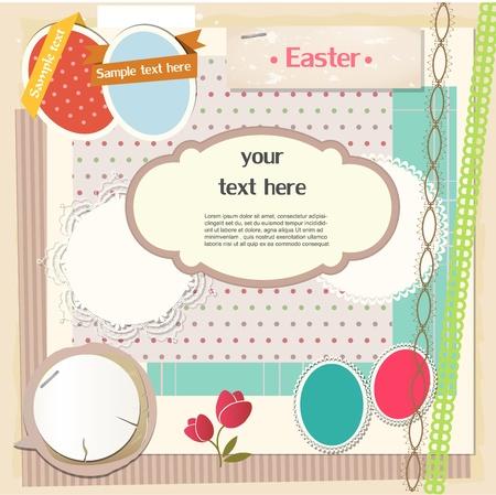memory card: Easter scrapbook set