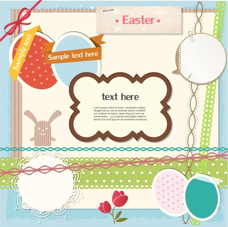 Easter scrapbook set Vector