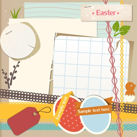 Easter scrapbook set Stock Vector - 12948532