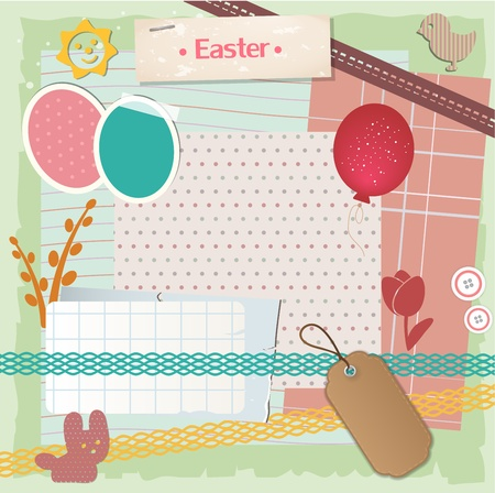 old diary: Easter scrapbook set