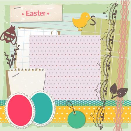 Easter scrapbook set Vector