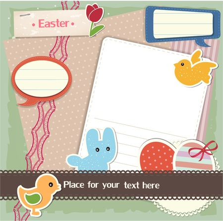 Easter scrapbook set Stock Vector - 12948865