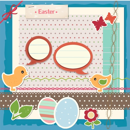 Easter scrapbook set Stock Vector - 12948834