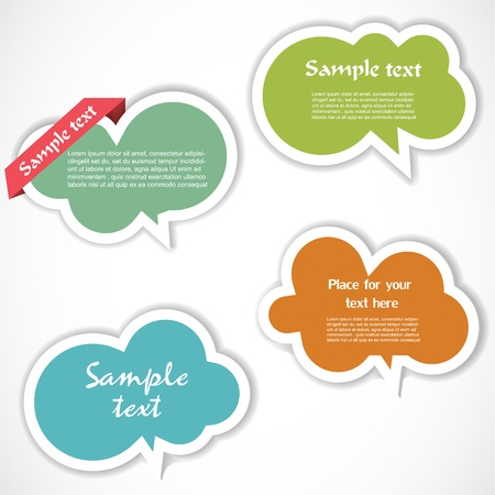 Colorful speech bubbles Stock Vector - 12948870