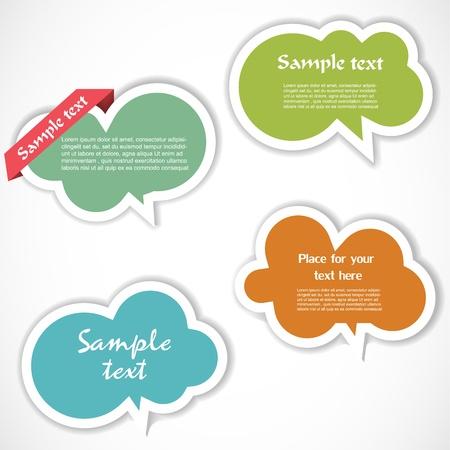 Colorful speech bubbles Stock Vector - 12948870