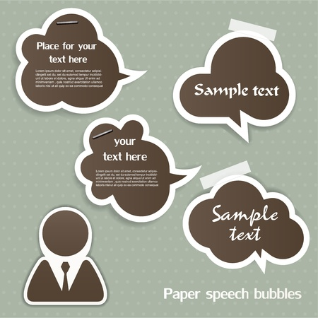 Speech bubbles Stock Vector - 12948878