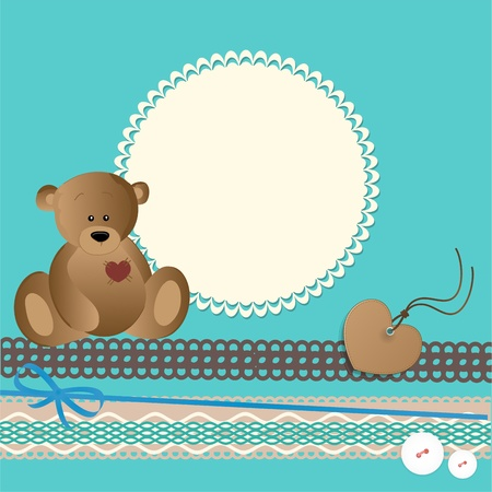 baby bear: Baby card Illustration