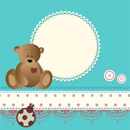Baby card Stock Vector - 13174072