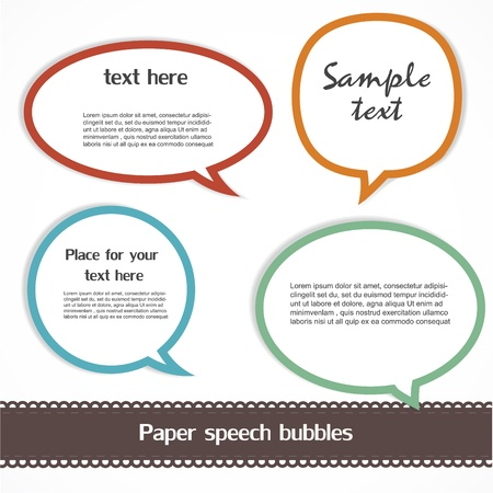 Speech bubbles Stock Vector - 13174096