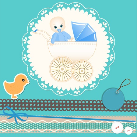 Baby card Stock Vector - 13174110