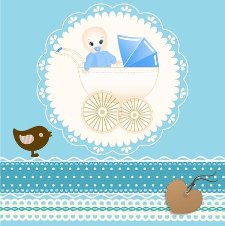 congratulating: Baby card
