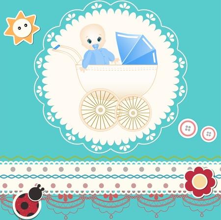 Baby card Stock Vector - 13174103