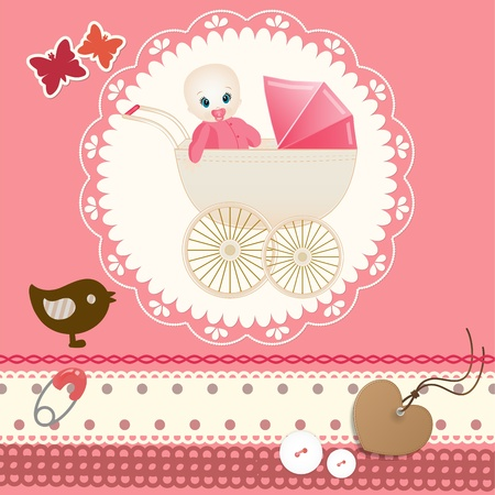 Baby card Stock Vector - 13174111