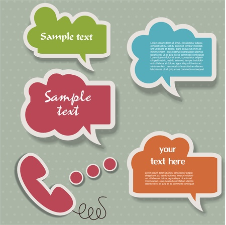 talk: Speech bubbles Illustration