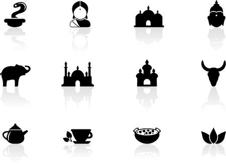 Indian icons Illustration