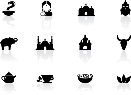 Indian icons Illustration