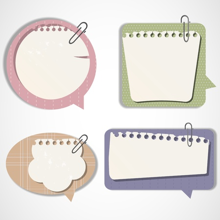 Vintage bubbles for speech Illustration