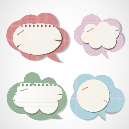 Vintage bubbles for speech Vector