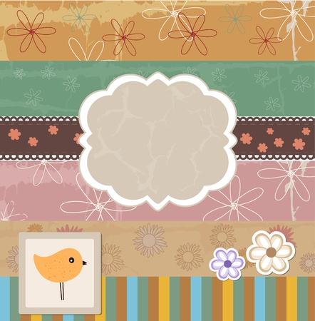 scrap booking: Scrapbook template