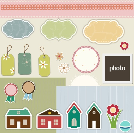 Design elements for scrapbook Vector