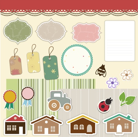 scrap booking: Design elements for scrapbook
